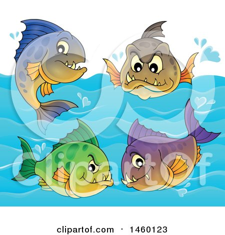 Clipart of Piranha Fish - Royalty Free Vector Illustration by visekart