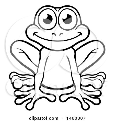 Clipart Of A Cartoon Happy Green Frog Prince With A Liptstick Kiss