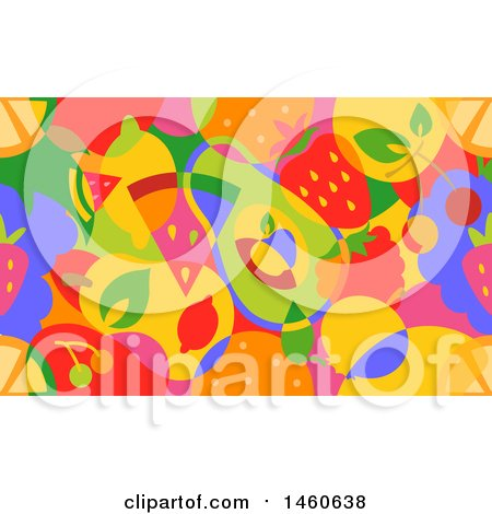 Clipart of a Seamless Colorful Background of Fruit - Royalty Free Vector Illustration by BNP Design Studio