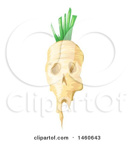 Clipart of a Gmo Sugar Beet with a Skull Face - Royalty Free Vector Illustration by BNP Design Studio