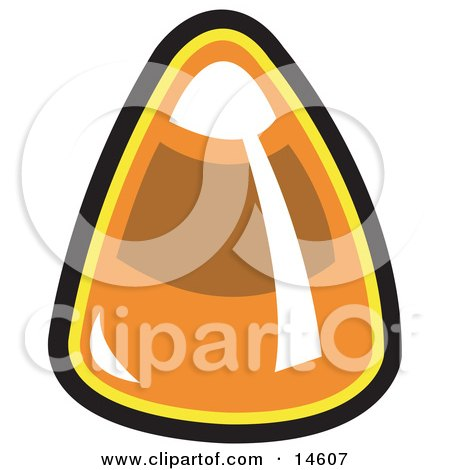Single Piece of Candy Corn Clipart Illustration by Andy Nortnik
