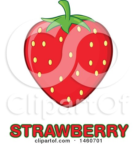 Clipart of a Strawberry over Text - Royalty Free Vector Illustration by Hit Toon