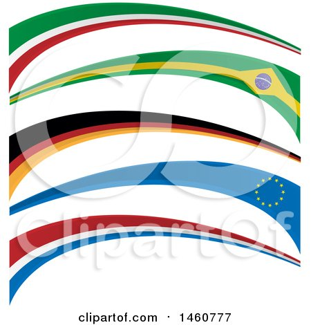 Clipart of Flag Banners - Royalty Free Vector Illustration by Domenico Condello