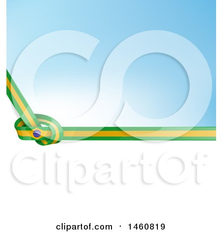 Clipart of a Brazil Flag Background - Royalty Free Vector Illustration by Domenico Condello