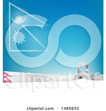 Clipart of a Nepali Flag Background - Royalty Free Vector Illustration by Domenico Condello