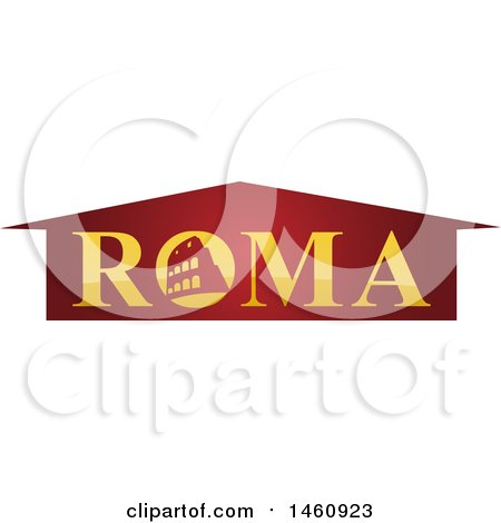 Clipart of a Roma Design - Royalty Free Vector Illustration by Domenico Condello