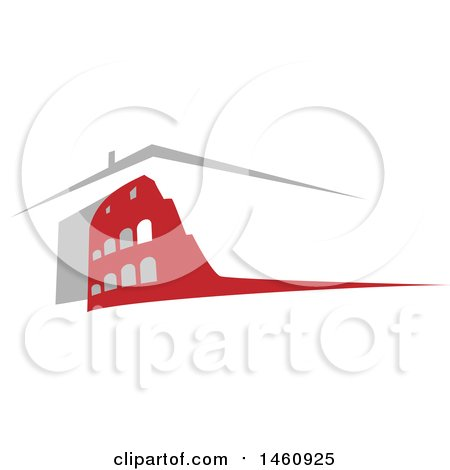 Clipart of a Roman Coliseum - Royalty Free Vector Illustration by Domenico Condello