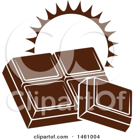 Clipart of Chocolate Squares with a Sun and Text - Royalty Free Vector Illustration by Vector Tradition SM