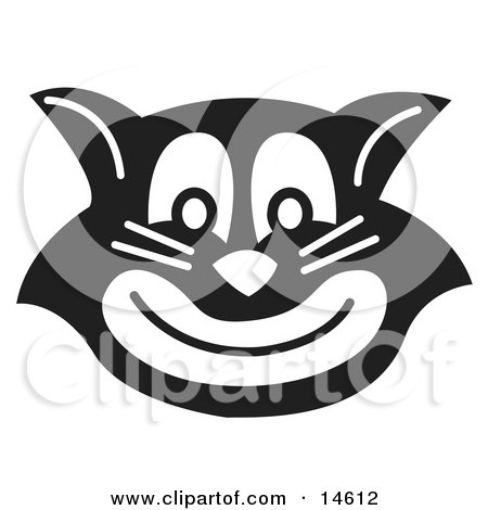 Evil Black Cat Grinning Clipart Illustration by Andy Nortnik