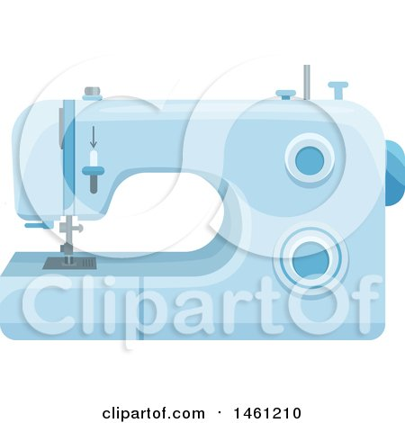 Clipart of a Sewing Machine - Royalty Free Vector Illustration by Vector Tradition SM