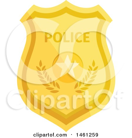 Clipart of a Police Badge - Royalty Free Vector Illustration by Vector Tradition SM