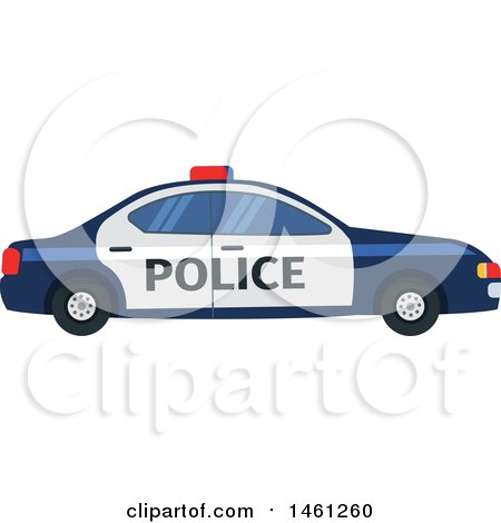 Clipart of a Police Car - Royalty Free Vector Illustration by Vector Tradition SM