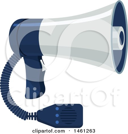 Clipart of a Police Megaphone - Royalty Free Vector Illustration by Vector Tradition SM