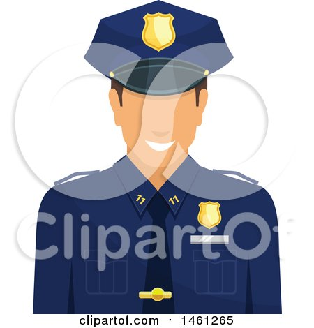Clipart of a Police Man Avatar - Royalty Free Vector Illustration by Vector Tradition SM