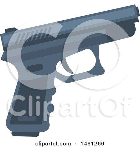 Clipart of a Police Gun - Royalty Free Vector Illustration by Vector Tradition SM