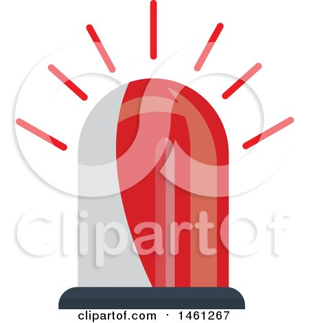 Clipart of a Red Police Siren - Royalty Free Vector Illustration by Vector Tradition SM