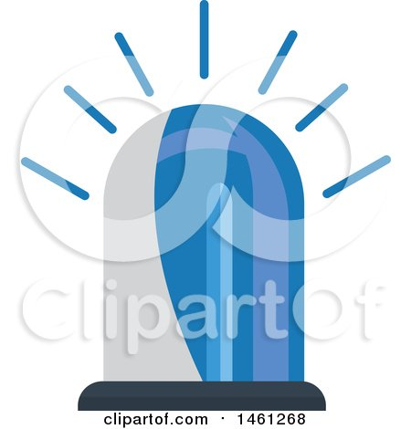 Clipart of a Blue Police Siren - Royalty Free Vector Illustration by Vector Tradition SM