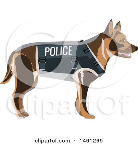 Clipart of a Police Dog - Royalty Free Vector Illustration by Vector Tradition SM