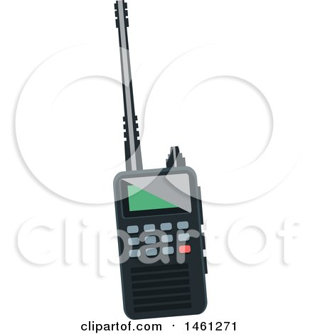 Clipart of a Walkie Talkie - Royalty Free Vector Illustration by Vector Tradition SM