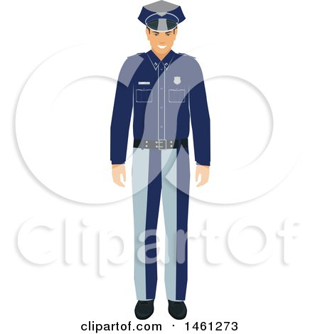 Clipart of a Police Man - Royalty Free Vector Illustration by Vector Tradition SM