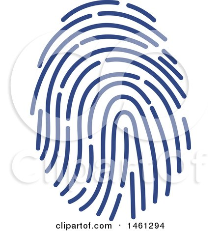 Clipart of a Thumb Print - Royalty Free Vector Illustration by Vector Tradition SM