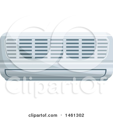 Clipart of a Ductless Air Conditioner - Royalty Free Vector Illustration by Vector Tradition SM