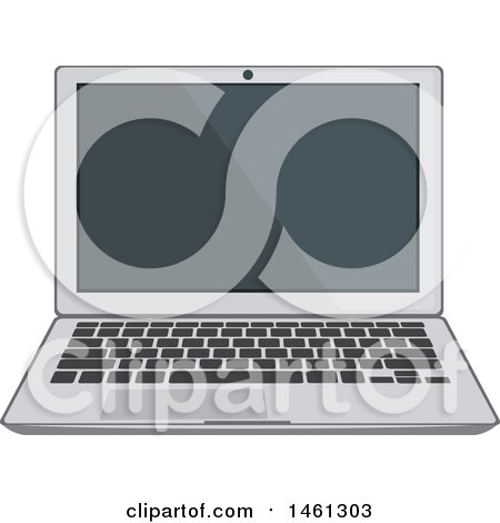 Clipart of a Laptop - Royalty Free Vector Illustration by Vector Tradition SM