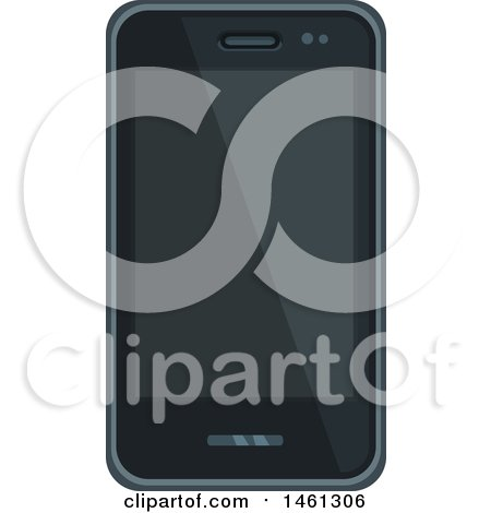 Clipart of a Smart Phone - Royalty Free Vector Illustration by Vector Tradition SM