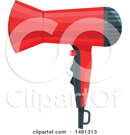 Clipart of a Blow Dryer - Royalty Free Vector Illustration by Vector Tradition SM