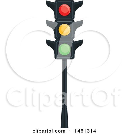 Clipart of a Traffic Light - Royalty Free Vector Illustration by Vector Tradition SM
