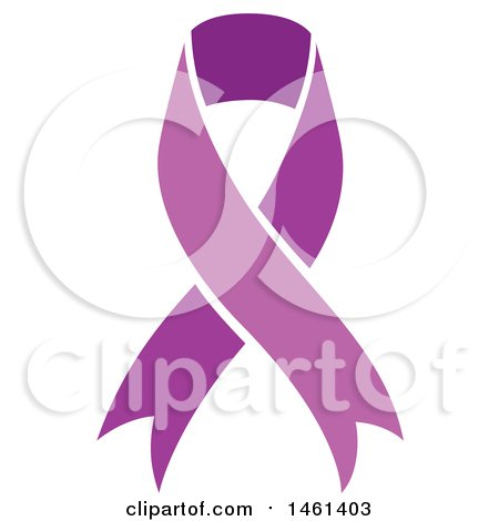 Clipart of a Purple Awareness Ribbon - Royalty Free Vector Illustration by Cherie Reve