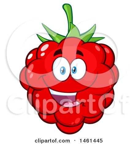 Clipart of a Raspberry Mascot Character - Royalty Free Vector Illustration by Hit Toon