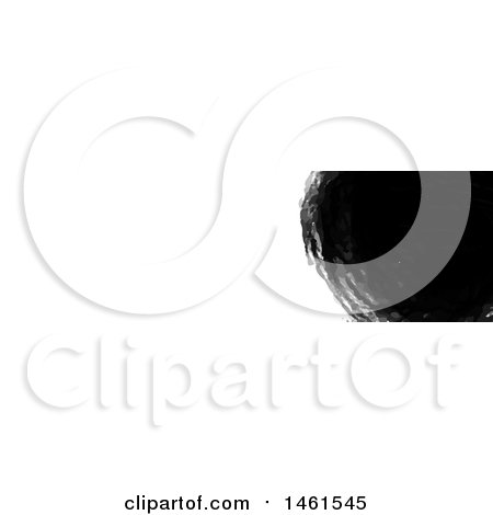 Clipart of a Black Paint Design on a White Website Banner Header - Royalty Free Vector Illustration by KJ Pargeter