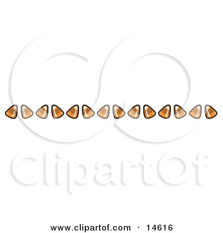 Border of Candy Corn Clipart Illustration by Andy Nortnik