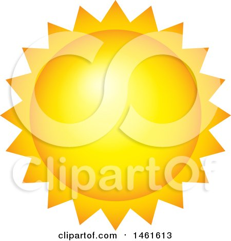 Clipart of a Summer Time Sun - Royalty Free Vector Illustration by visekart