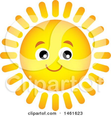 Clipart of a Summer Time Sun Character - Royalty Free Vector Illustration by visekart