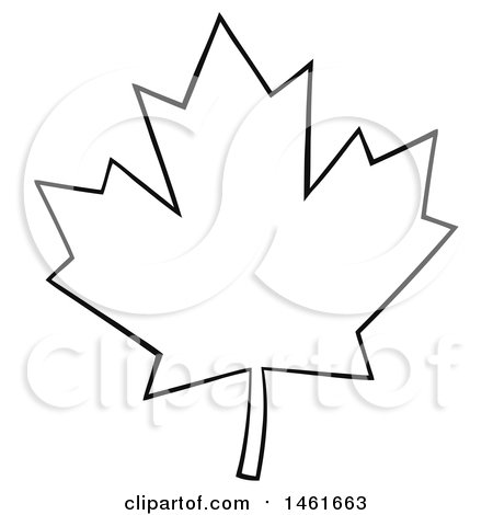 clipart of a black and white canadian maple leaf outline royalty rh clipartof com