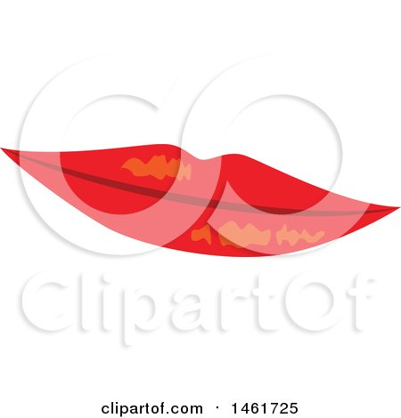 Clipart of a Womans Red Lips - Royalty Free Vector Illustration by Cherie Reve