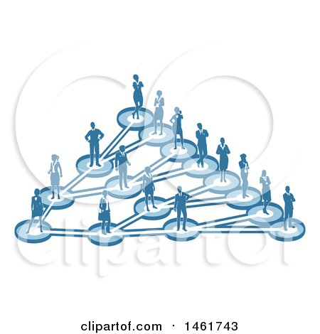 Clipart of a Linking Diagram of Networked Business People - Royalty Free Vector Illustration by AtStockIllustration