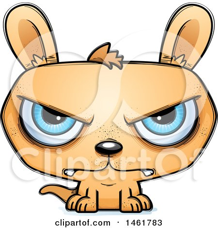 Clipart of a Cartoon Mad Evil Kangaroo - Royalty Free Vector Illustration by Cory Thoman