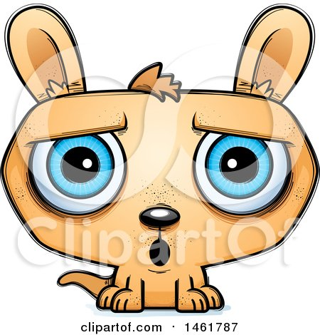 Clipart of a Cartoon Surprised Evil Kangaroo - Royalty Free Vector Illustration by Cory Thoman