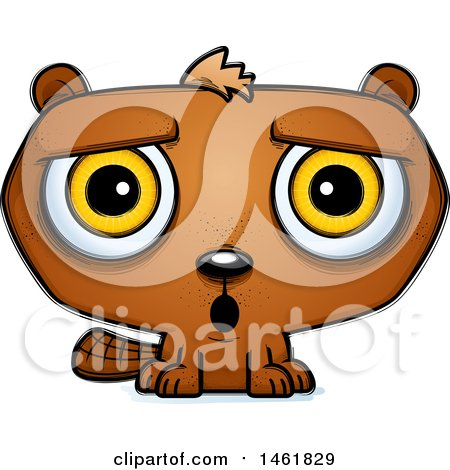 Clipart of a Cartoon Surprised Evil Beaver - Royalty Free Vector Illustration by Cory Thoman