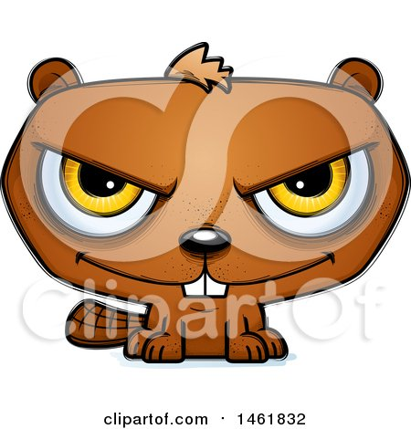 Clipart of a Cartoon Evil Beaver - Royalty Free Vector Illustration by Cory Thoman