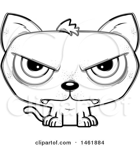 Cartoon Outline Mad Evil Cat Posters Art Prints By Interior Wall Decor 1461884