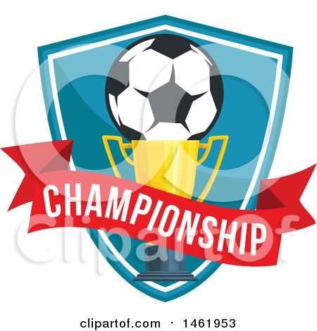 Clipart of a Soccer Ball and Trophy Design - Royalty Free Vector Illustration by Vector Tradition SM