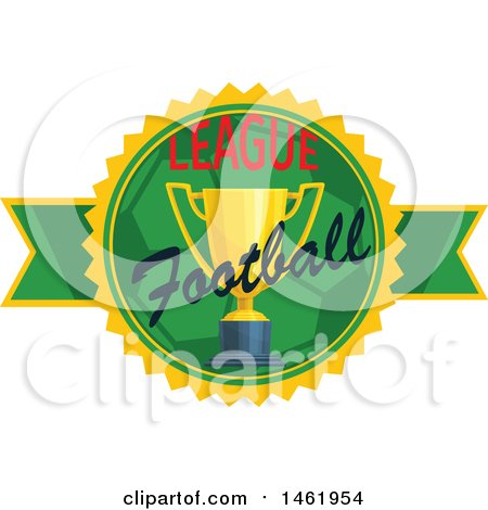 Clipart of a Soccer Championship Design - Royalty Free Vector Illustration by Vector Tradition SM