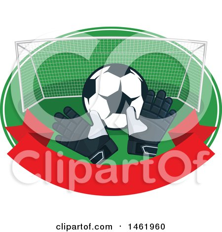 Clipart of a Soccer Ball Design - Royalty Free Vector Illustration by Vector Tradition SM