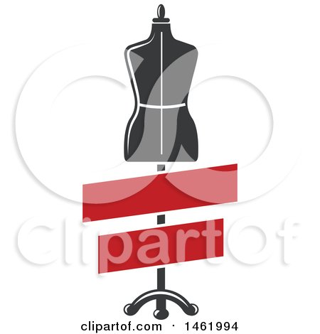 Clipart of a Mannequin with Blank Banners - Royalty Free Vector Illustration by Vector Tradition SM