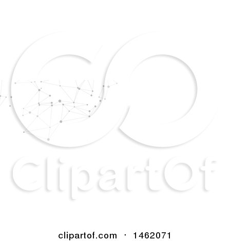Clipart of a Grayscale Connection Network Website Header - Royalty Free Vector Illustration by KJ Pargeter