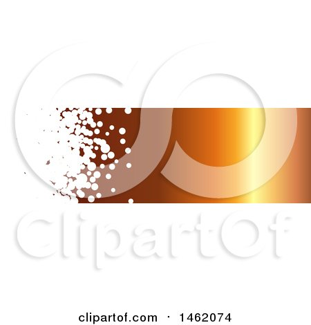 Clipart of a White Bubble and Gradient Orange Website Header Banner - Royalty Free Vector Illustration by KJ Pargeter